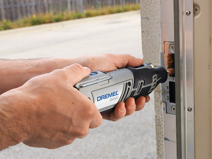 Dremel fixing a door frame