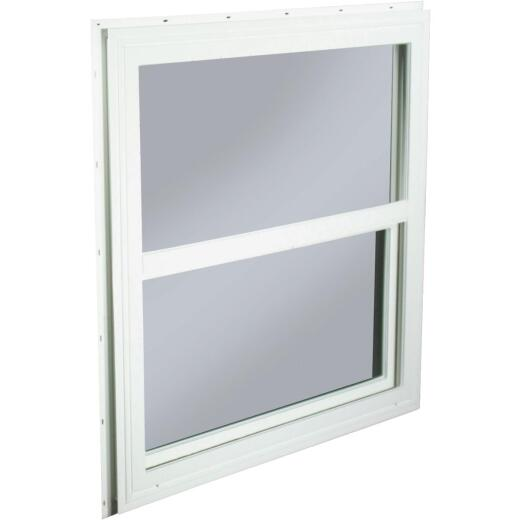 Northview 29-1/2 In. W. x 29-1/2 In. H. White PVC Traditional Single Glazed Single Hung Window