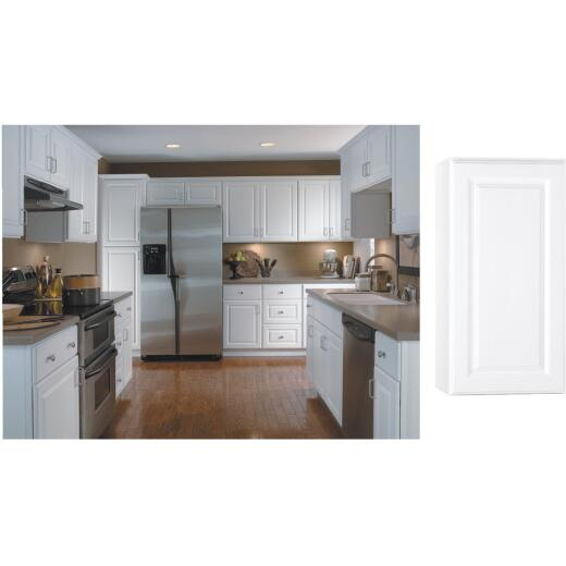 Continental Cabinets Hamilton 15 In. W x 30 In. H x 12 In. D Satin White Maple Wall Kitchen Cabinet