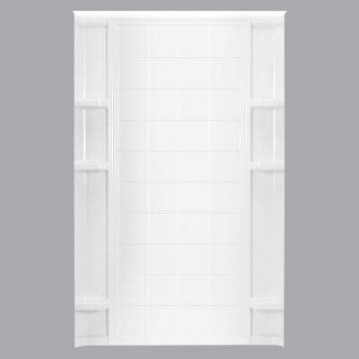 Sterling 48 In. W. x 75-3/4 In. H. White Vikrell Shower Back Wall