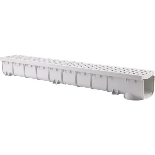 NDS 5 In. x 39-3/4 In. Gray Pro Series Channel Drain