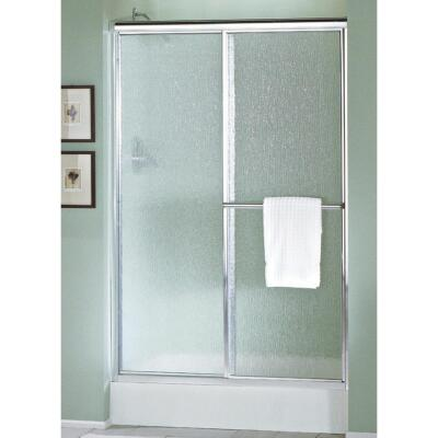 Sterling Deluxe 48-7/8 In. W. X 70 In. H. Chrome Rain Glass Sliding Shower Door