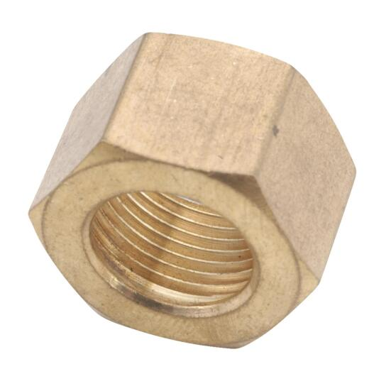 Anderson Metals 3/8 In. Brass Compression Nut (50-Pack)