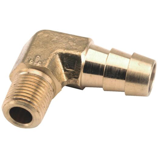 Anderson Metals 3/8 In. MIP x 1/2 In. Hose Barbed Brass Elbow