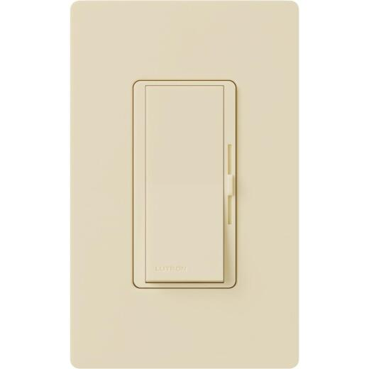 Lutron Diva Incandescent/Halogen/LED/CFL Ivory Slide Dimmer Switch