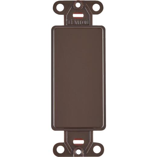 Leviton Decora QuickPort Brown Blank Wall Plate Insert