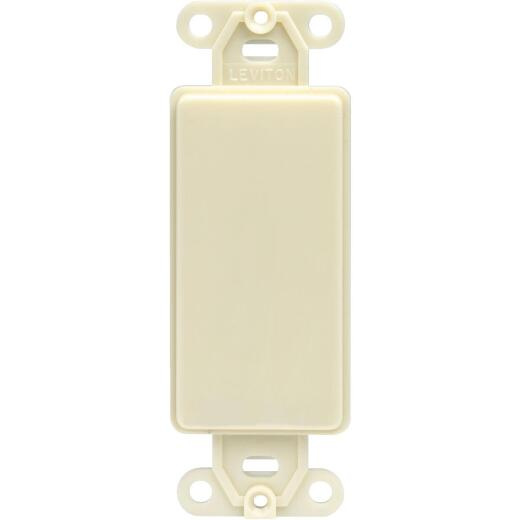 Leviton Decora QuickPort Ivory Blank Wall Plate Insert