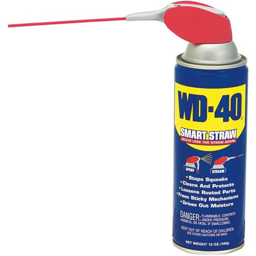 WD-40 12 Oz. Aerosol Multi-Purpose Lubricant with Smart Straw