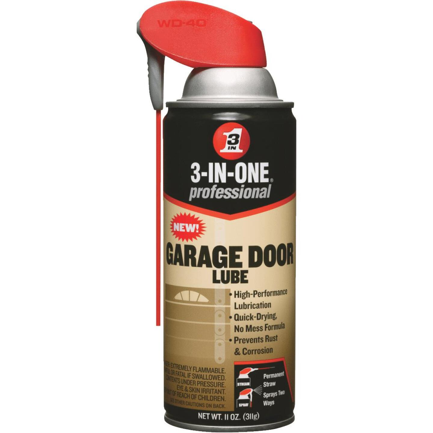 3-IN-ONE 11 Oz. Aerosol with Straw Garage Door Multi-Purpose Lubricant Image 1