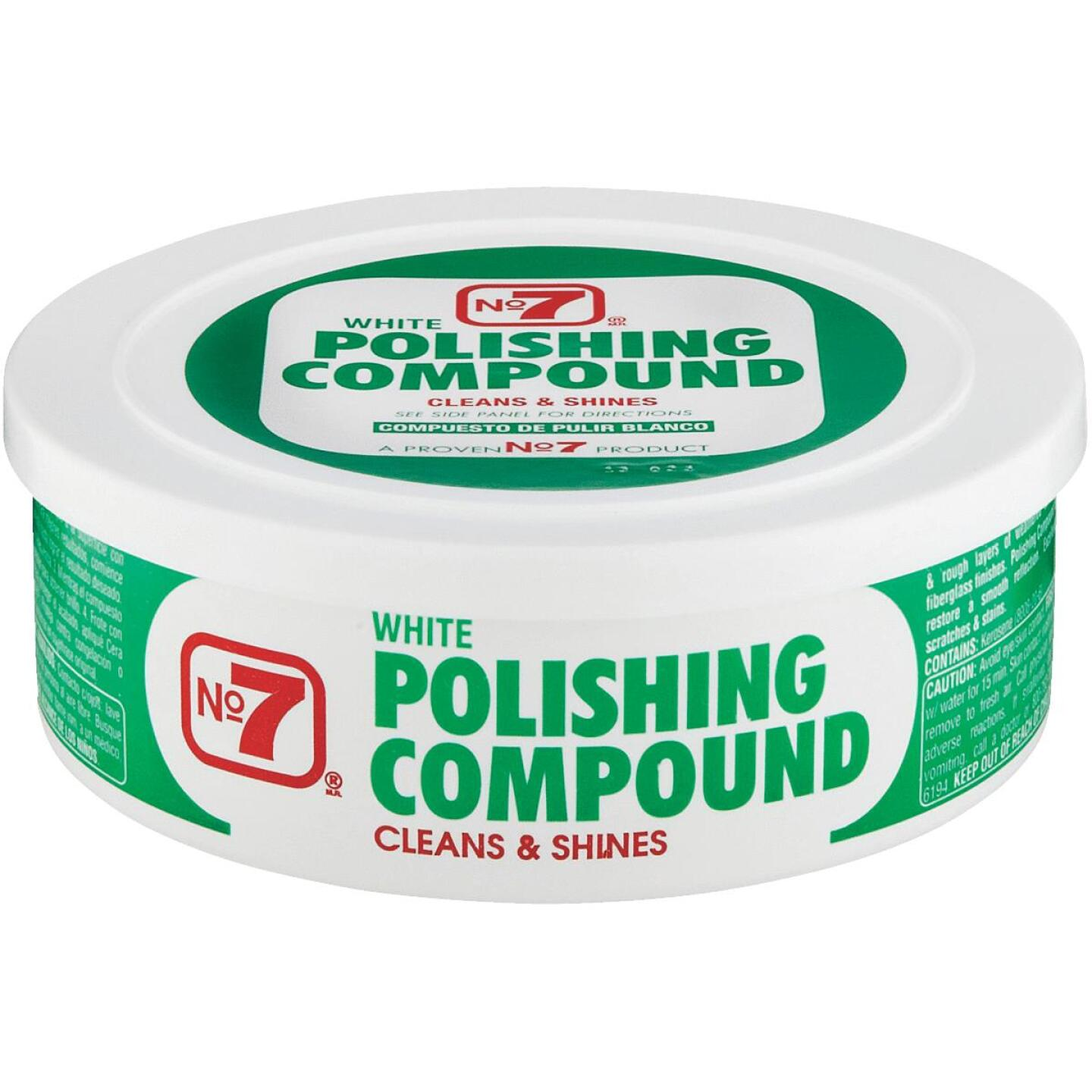 NO. 7,  10 oz Paste White Polishing Compound Image 1