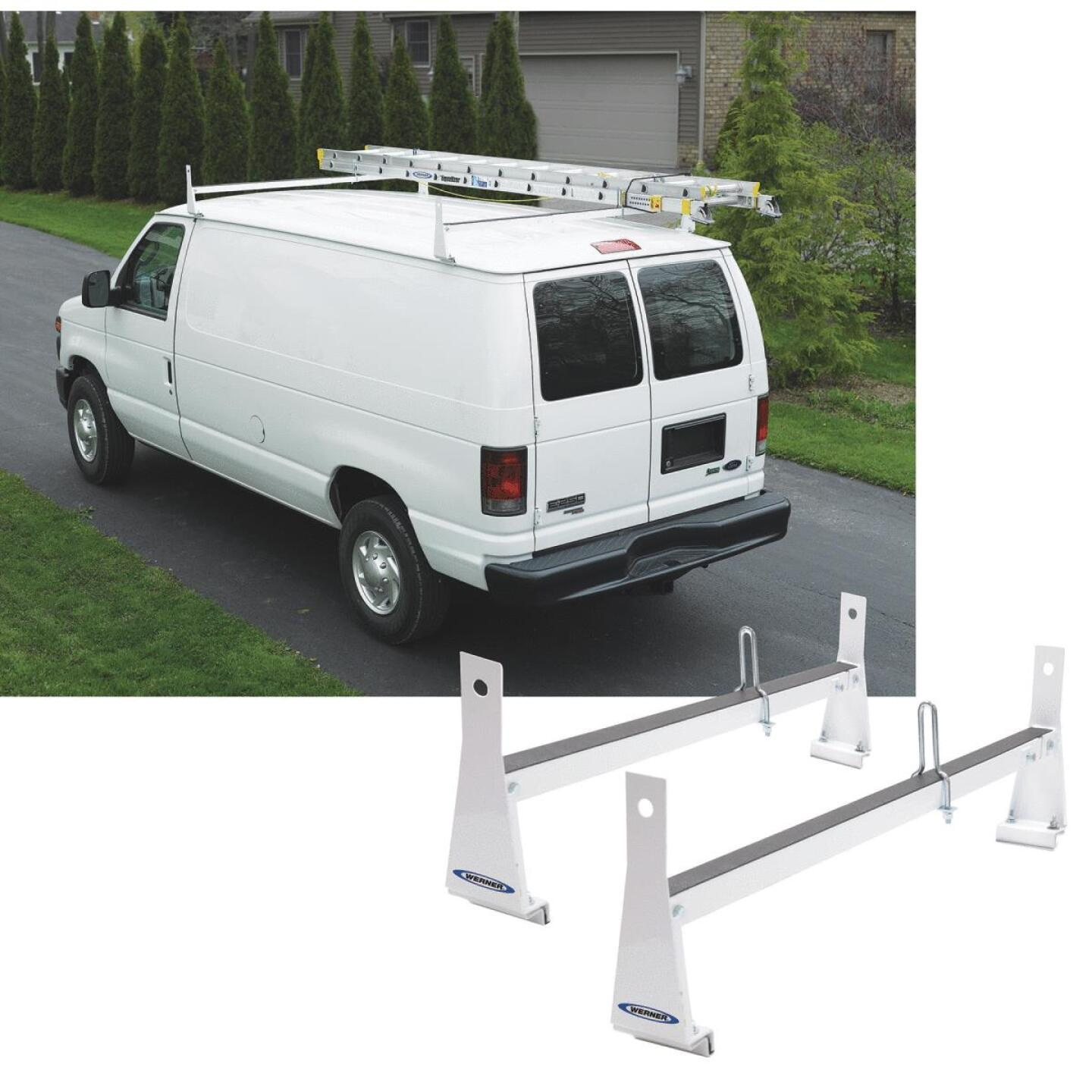 Werner Ladder 600 Lb Capacity White Van Rack Image 1