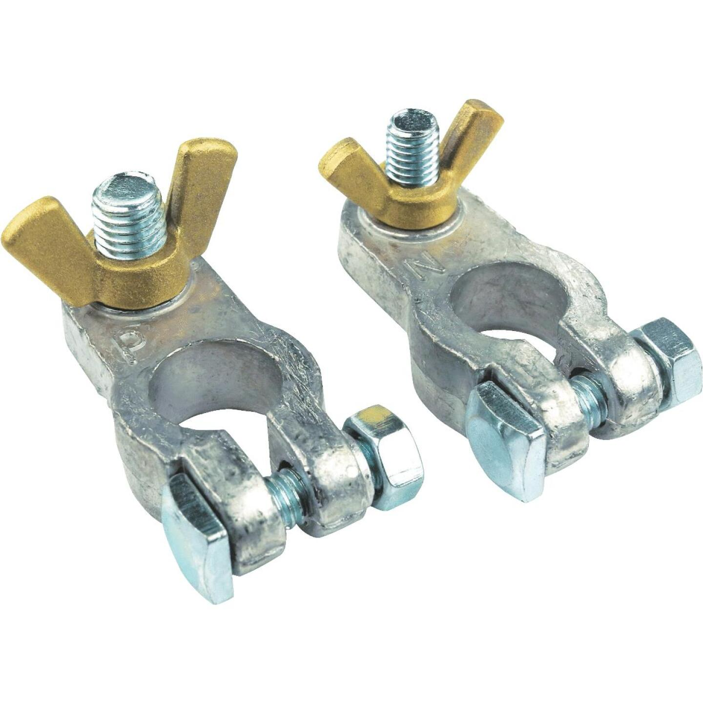 Seachoice Clamp Wing Nut Lead Alloy Battery Terminal, (2-Count) Image 1