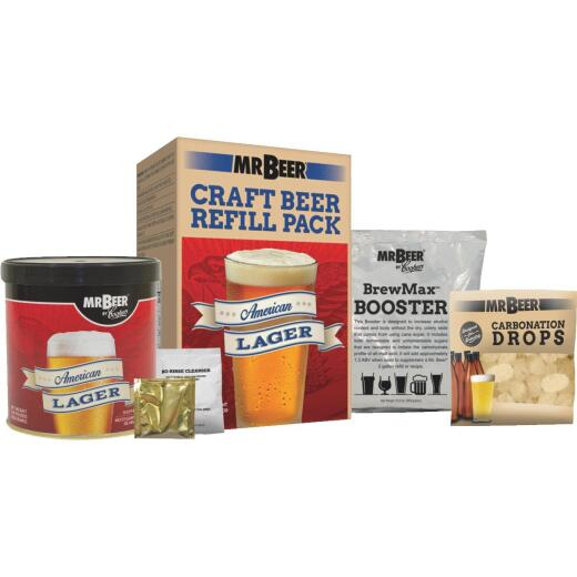 Mr. Beer American Lager Beer Brewing Kit Refill (4-Piece)
