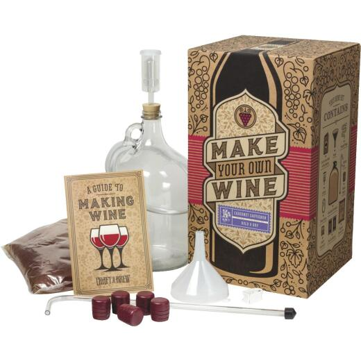 Craft A Brew Cabernet Sauvignon Wine Making Kit (11-Piece)