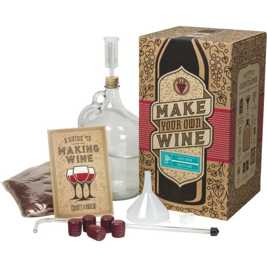 Craft A Brew Pinot Grigio Wine Making Kit (11-Piece)
