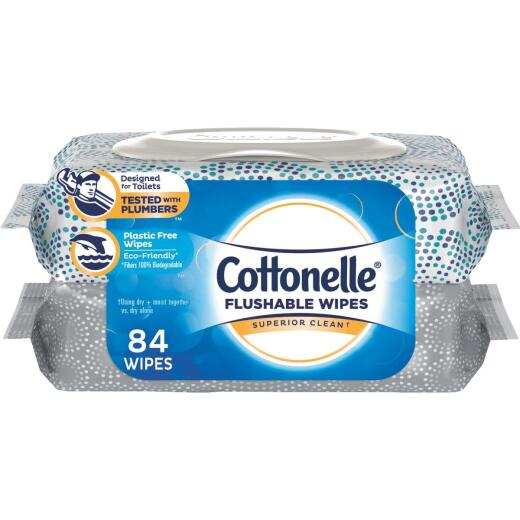 Cottonelle Flushable Wet Wipe (84 Count)