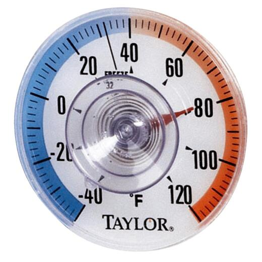 Taylor 3.5 In. Stick-on Dial Window Thermometer
