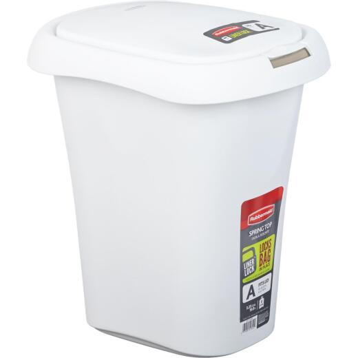 Rubbermaid 21 Qt. White Wastebasket with Lid