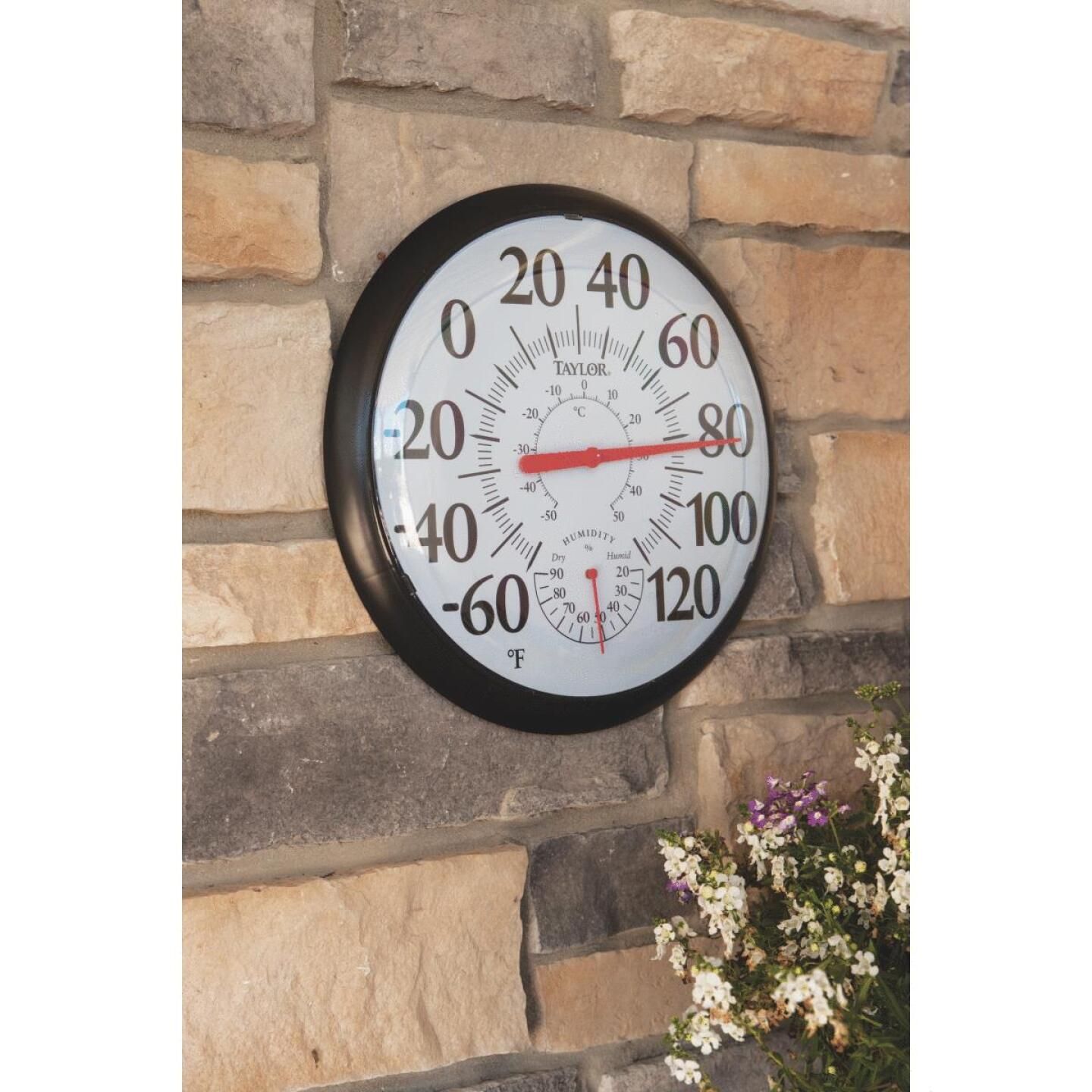 Taylor Fahrenheit & Celsius Analog -60 To 120 F, -50 to 50 C Hygrometer & Thermometer Image 3