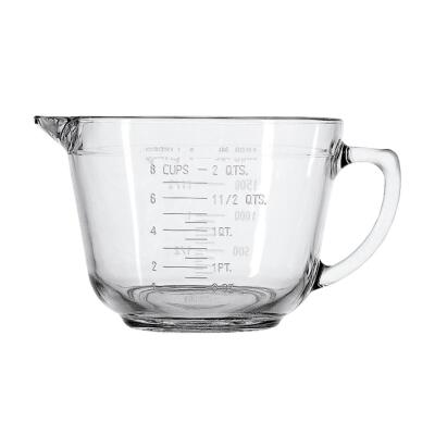 Anchor Hocking Essentials 2 Qt. Clear Glass Measuring Batter Bowl