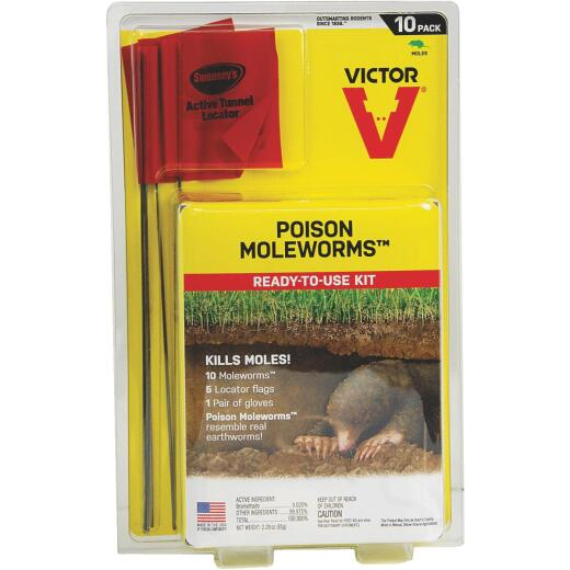 Victor Poison Moleworms Mole Killer (10-Pack)