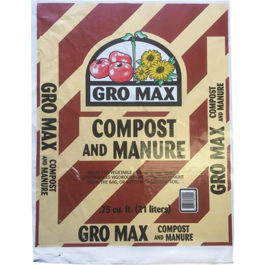 Gro Max 0.75 Cu. Ft. Composted Cow Manure