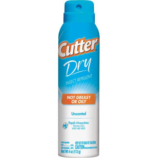 Cutter Dry 4 Oz. Insect Repellent Aerosol Spray