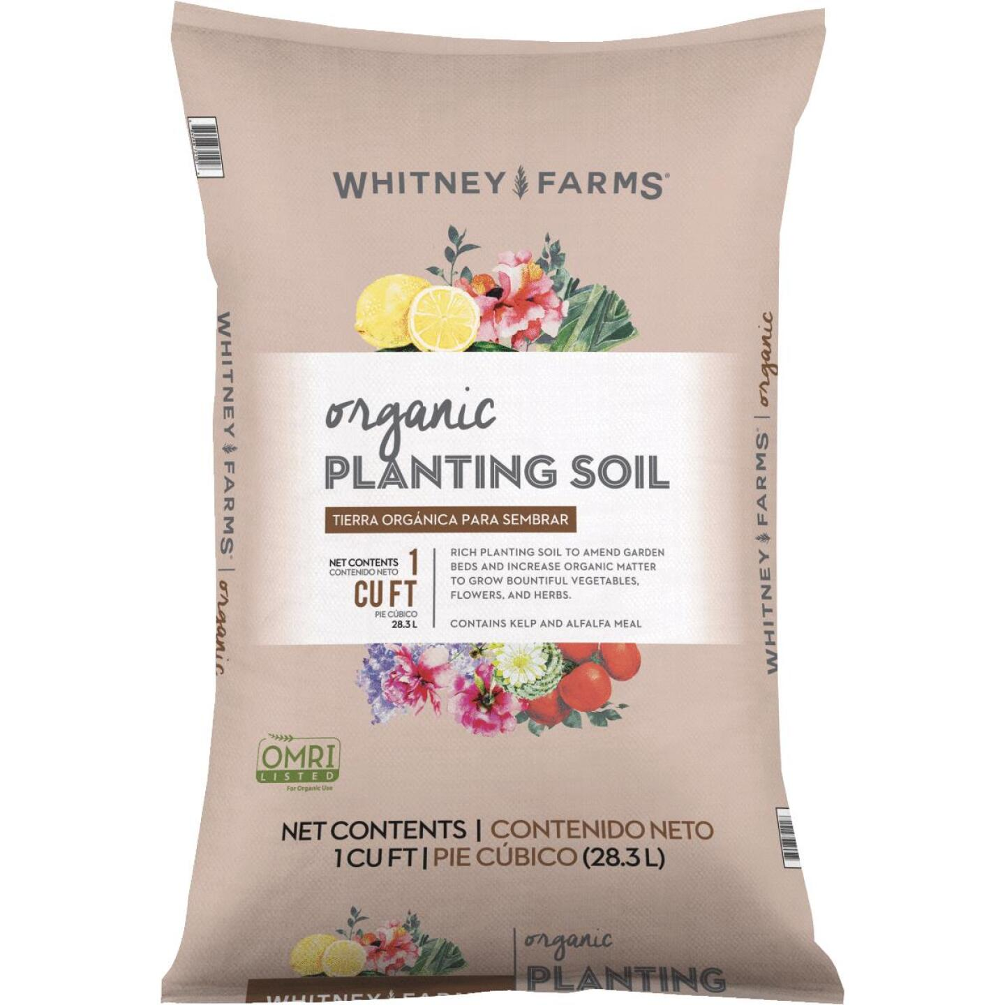 Whitney Farms 1 Cu. Ft. All Purpose Organic Planting Garden Soil Image 1