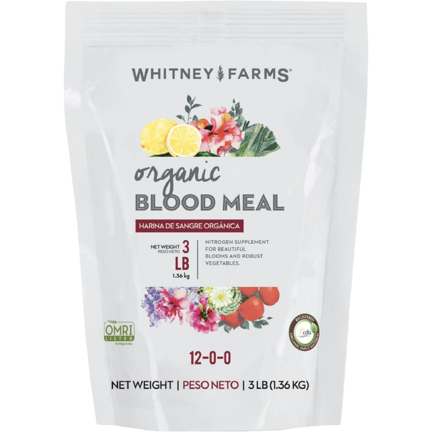Whitney Farms 3 lb. Natural Blood Meal Plant Food Image 1