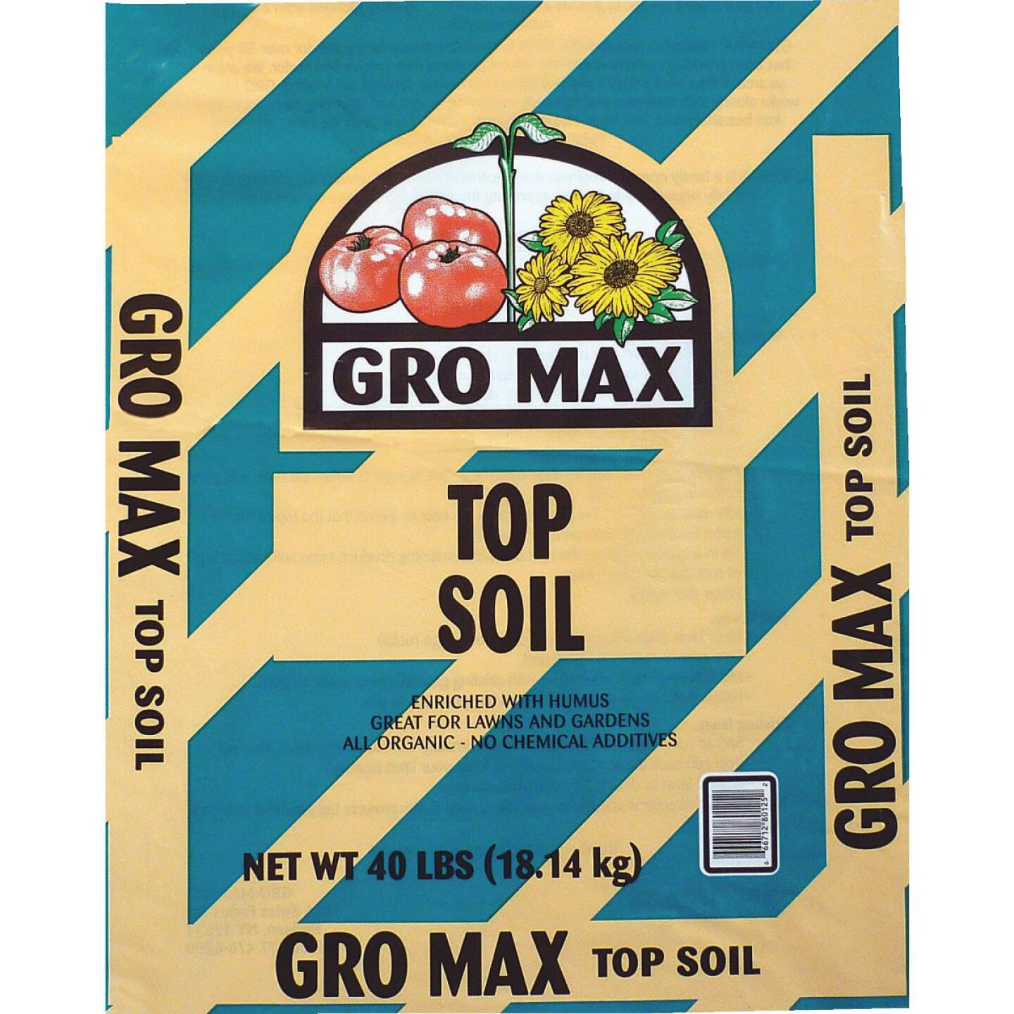 Gro Max 40 Lb. All Purpose Organic Top Soil Image 1