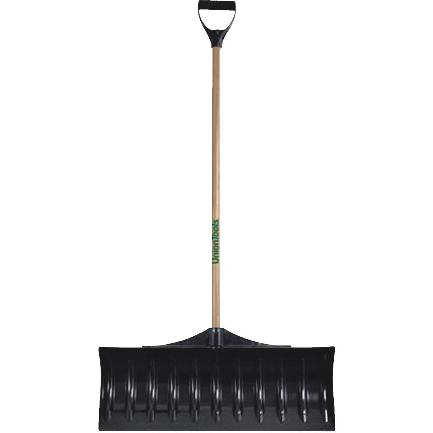 Union Tools 30 In. Poly Snow Pusher with 47 In. Wood Handle Image 1