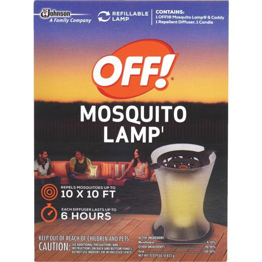 OFF! 100 Sq. Ft. Coaverage Area 6 Hr. Mosquito Repellent Lamp