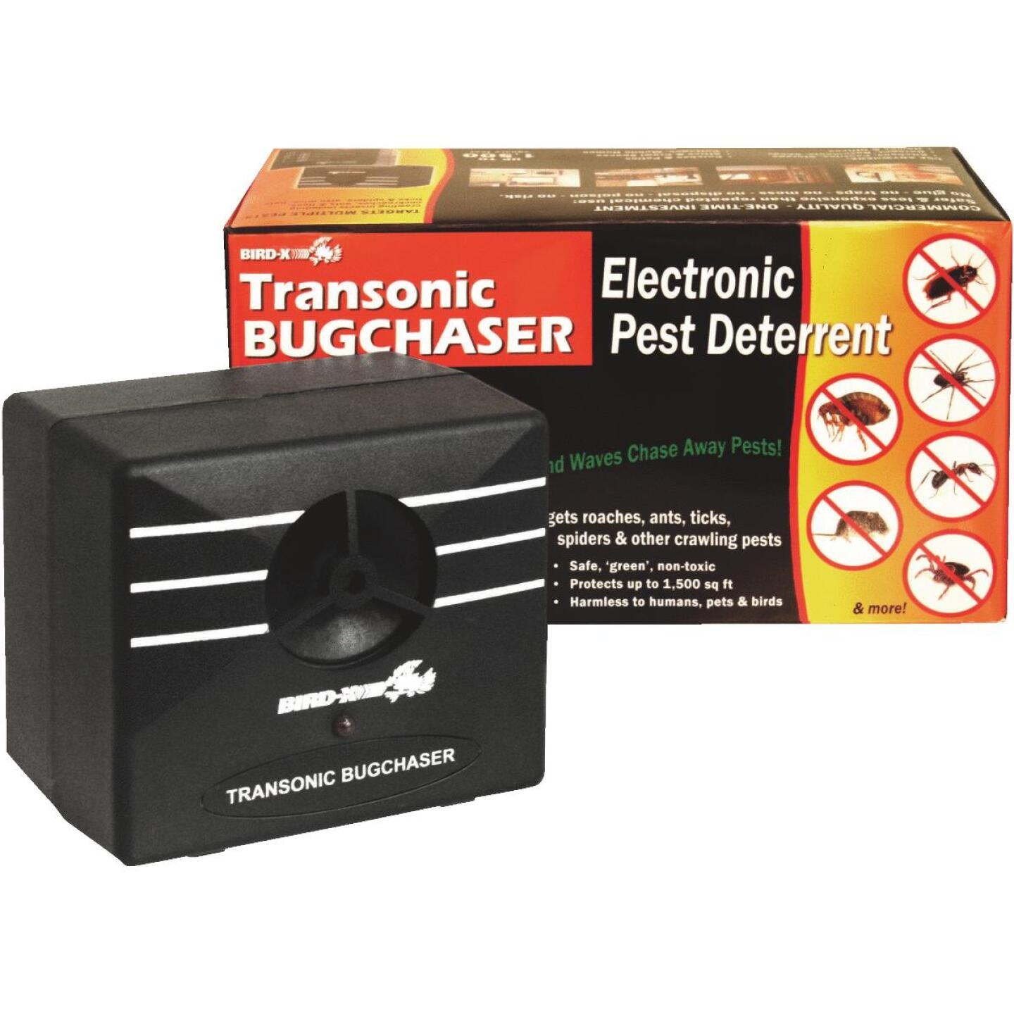 Bird X Transonic BugChaser Ultrasonic 1500 Sq. Ft. Coverage 110V Electronic Pest Repellent Image 1