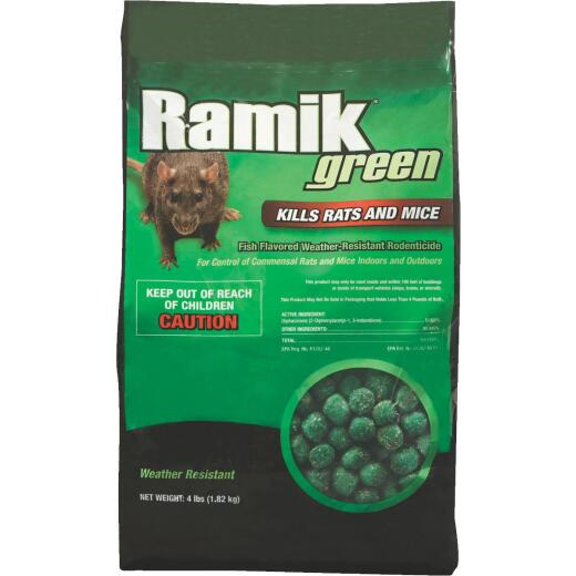 Ramik Green Nugget Rat And Mouse Poison, 4 Lb.