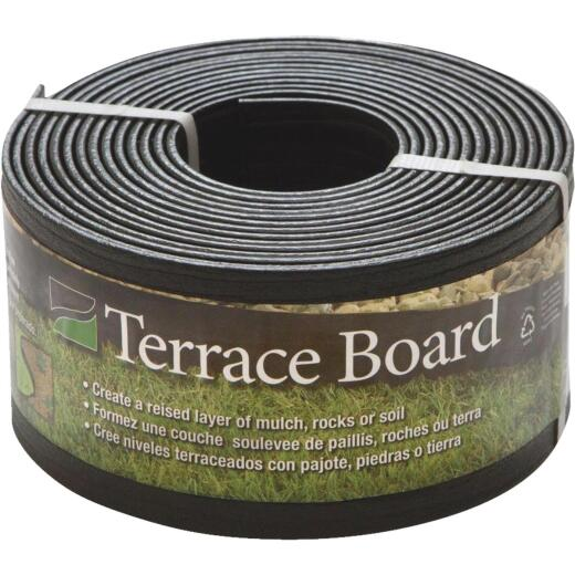 Master Mark 4 In. H. x 20 Ft. L. Black Terrace Board Lawn Edging