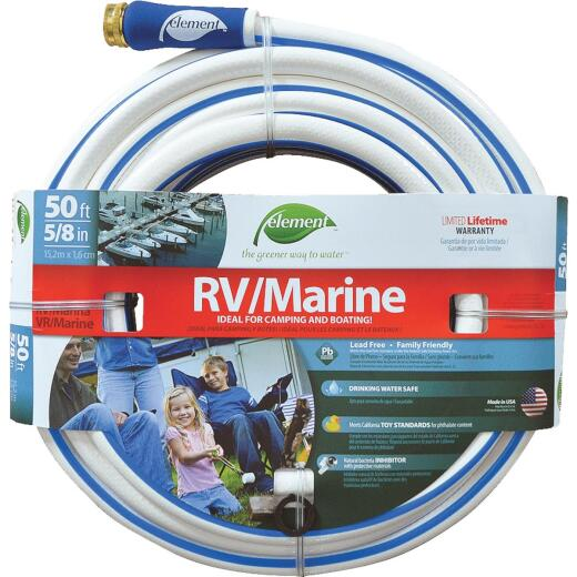Element 5/8 In. Dia. x 50 Ft. L. Drinking Water Safe RV/Marine Hose