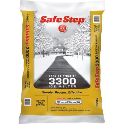 Safe Step 3300 50 Lb. Rock Salt/Halite Ice Melt Large Pellets