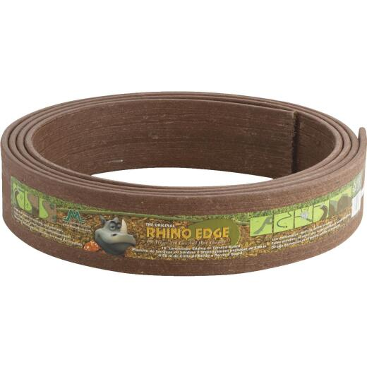 Master Mark Rhino Edge 3.5 In. H. x 16 Ft. L. Chestnut Brown HDP & Recycled Wood Lawn Edging