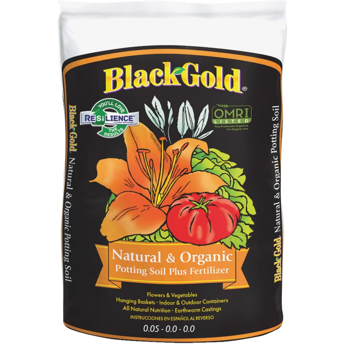 Black Gold 1.5 Cu. Ft. All Purpose Natural & Organic Potting Soil Image 1