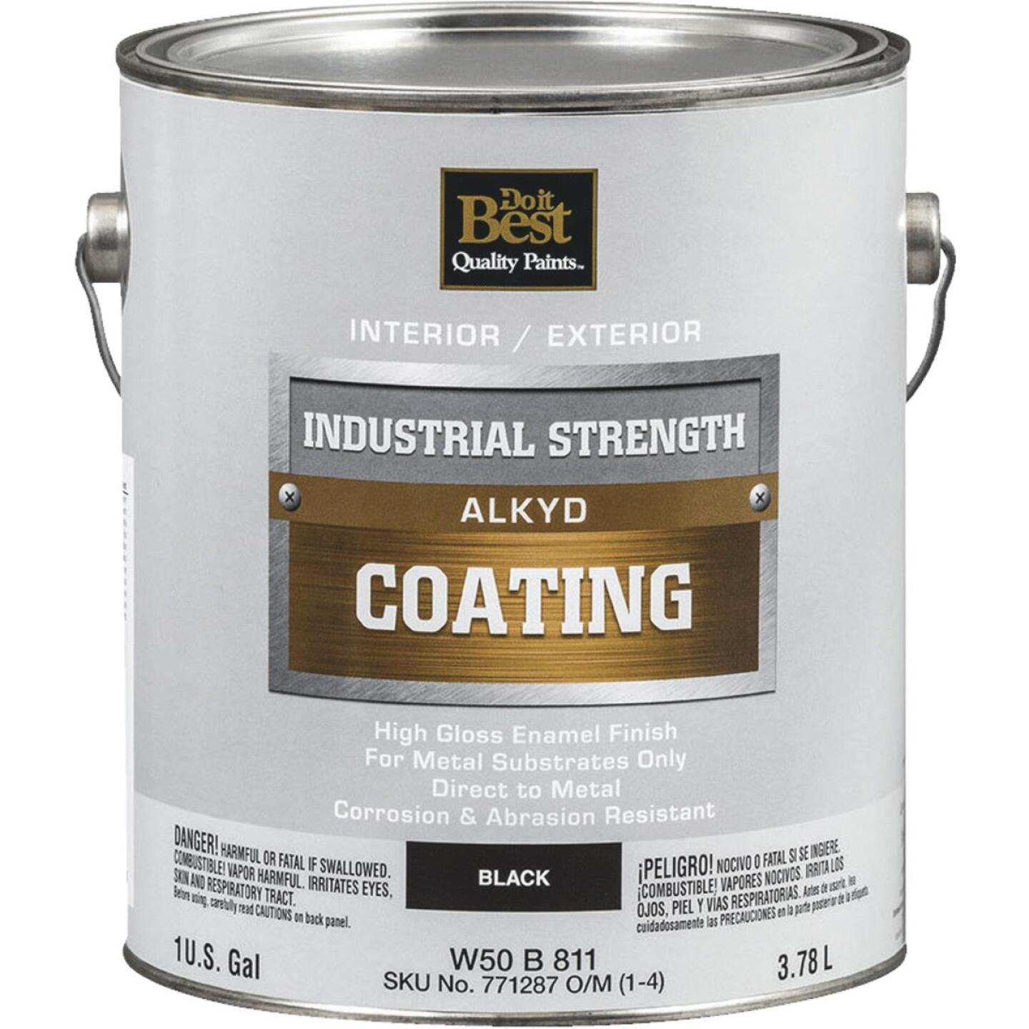 Do it Best Alkyd Industrial Coating, Black, 1 Gal. Image 1