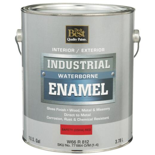Do it Best Waterborne Industrial Enamel, Osha Red, 1 Gal.