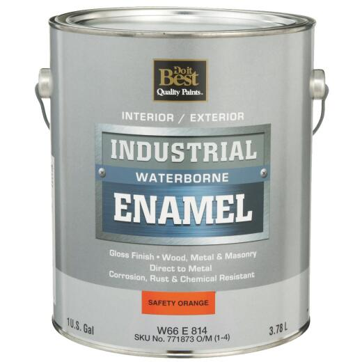 Do it Best Waterborne Industrial Enamel, Safety Orange, 1 Gal.