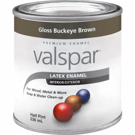 Valsar Premium Latex Enamel, Brown, 1/2 Pt.