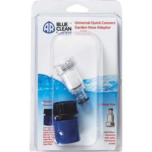 AR Blue Clean 3/4 Pressure Washer Quick Connect Socket Kit with Filter