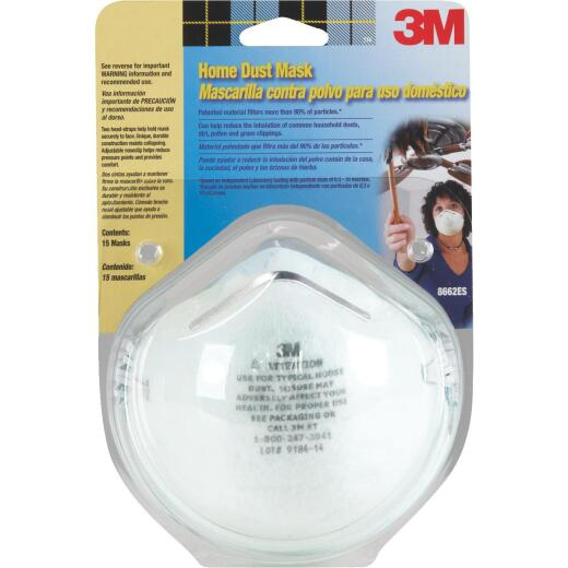 3M Disposable Home Dust Mask (15-Pack)