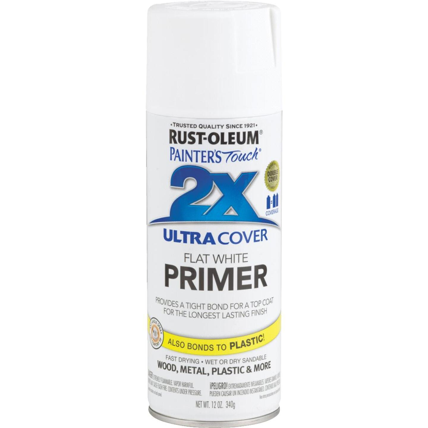 Rustoleum Painter's Touch 2X Ultra Cover White Spray Paint Primer Image 1