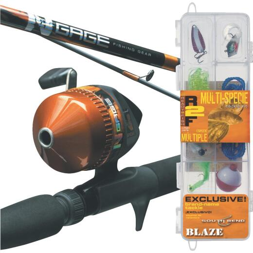 SouthBend Ready 2 Fish All Species 5 Ft. Fiberglass Fishing Rod & Spincast Reel Combo