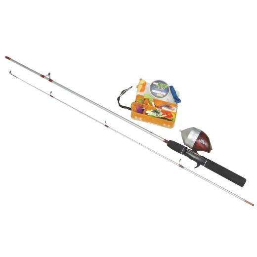 Zebco 5 Ft. 6 In. Z-Glass Fishing Rod & Spincast Reel with Tackle Kit