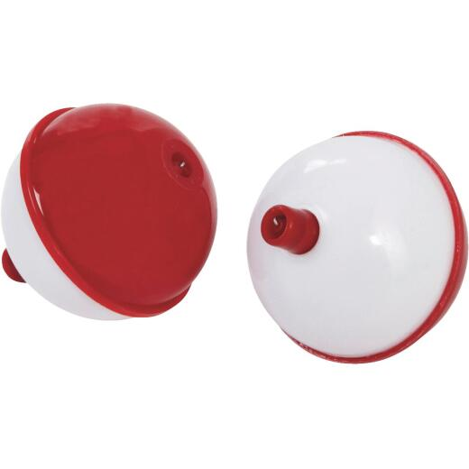 SouthBend 2 In. Red & White Push-Button Fishing Bobber Float (2-Pack)