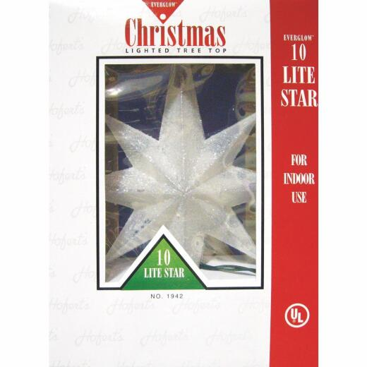 J Hofert Everglow Multi-Color 12 In. Star Christmas Tree Topper